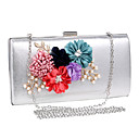cheap Clutches & Evening Bags-Women's Bags Polyester Evening Bag Flower Black / Silver / Red