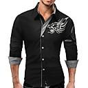 cheap Camp Kitchen-Men's Work Basic Plus Size Slim Shirt - Animal Dragon, Print Button Down Collar / Long Sleeve
