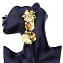 זול עגילים-טבעות חישוקים - פרחוניים / בוטניים, פרח בוהמי, אופנתי, בוהו אדום / ירוק / כחול עבור Party יומי
