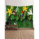 tanie Tapestry Ścienne-Motyw ogrodowy / Zwierzę Dekoracja ścienna 100% poliester Nowoczesny Wall Art, Ścienne Gobeliny Dekoracja