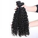 זול תוספות שיער בגוון טבעי-3 חבילות שיער ברזיאלי מתולתל שיער אנושי תוספות שיער משיער אנושי שוזרת שיער אנושי פאר תוספות שיער אדם בגדי ריקוד נשים
