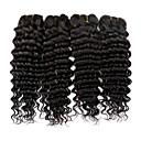 זול תוספות שיער בגוון טבעי-4 חבילות שיער ברזיאלי גלי שיער אנושי תוספות שיער משיער אנושי 8-28 אִינְטשׁ שוזרת שיער אנושי extention / מכירה חמה צבע טבעי תוספות שיער אדם כל