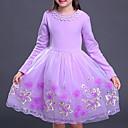 preiswerte Kleider für Mädchen-Mädchen Kleid Einfarbig Baumwolle Kunstseide Winter Herbst Langarm Aktiv Prinzessin Rote Rosa Purpur