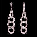 cheap Earrings-Women's Tassel / Long Stud Earrings / Hoop Earrings - Silver Plated Floral / Botanicals, Flower Bohemian, Fashion, Boho Silver For Wedding / Birthday