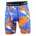 cheap Running Shirts, Pants & Shorts-Men's Running Tight Shorts - Green, Blue+Orange, Blue / White Sports Camouflage Spandex Shorts Fitness, Gym, Workout Activewear Lightweight, Fast Dry, Anatomic Design Stretchy / Winter