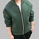 tanie Sukienki dla dziewczynek-Brzdąc Dla chłopców Aktywny Codzienny Solidne kolory Długi rękaw Regularny Bawełna Kurtka / płaszcz Zielony 120