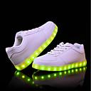 preiswerte Damen Turnschuhe-Damen / Unisex Schuhe PU Sommer / Herbst Leuchtende LED-Schuhe Sneakers Flacher Absatz Runde Zehe Weiß / Schwarz