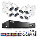 cheap DVR Kits-ANNKE® 8CH 1080P Security Cameras System with 8 Cameras No Hard Drive with 8pcs IP Cameras