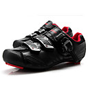 cheap Cycling Jersey & Shorts / Pants Sets-Tiebao® Road Bike Shoes Carbon Fiber Anti-Slip Cycling Black / Red Men's Cycling Shoes / Hook and Loop
