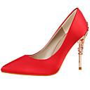ieftine Pantofi Joși de Damă-Pentru femei Pantofi Mătase Primăvară / Toamnă Gladiator / Balerini Basic Tocuri Toc Stilat Vârf ascuțit Verde / Albastru / Roz
