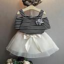 tanie Zestawy ubrań dla dziewczynek-Brzdąc Dla dziewczynek Prążki Krótki rękaw Komplet odzieży / Śłodkie