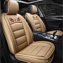 billige Sædeovertræk til din bil-ODEER Sædebetræk Beige PU Læder Tegneserie for Universel Alle år Alle Modeller