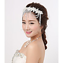 cheap Party Headpieces-Crystal / Lace Headpiece with Crystal / Lace 1 Piece Wedding / Party / Evening Headpiece