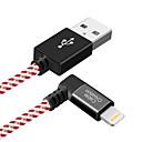 tanie Kable i Ładowarka-Oświetlenie Adapter kabla USB Wysoka prędkość / Szybka opłata Kable Na iPhone 120 cm Na Nylon