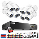 cheap DVR Kits-ANNKE® 8CH 1080P Security Cameras System with 1TB Hard Drive 8pcs IP Cameras