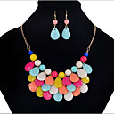 cheap Clutches & Evening Bags-Jewelry Set - Drop Statement, Vintage, Party Include Rainbow For Party / Earrings / Necklace