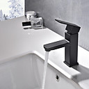 cheap Bathroom Sink Faucets-Bathroom Sink Faucet - Widespread Painting Centerset Single Handle One Hole