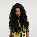 זול פיאות תחרה סינטטיות-סינתטי תחרה פאות הקדמי מתולתל סגנון חלק צד חזית תחרה פאה שחור שחור שיער סינטטי בגדי ריקוד נשים שיער טבעי שחור פאה ארוך מאוד MAYSU 130% צפיפות שיער אנושית פאה טבעית
