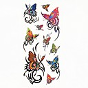 abordables Tatuajes Temporales-1 pcs Tatuajes Adhesivos Los tatuajes temporales Series de Animal Impermeable Artes de cuerpo Cuerpo / brazo / hombro