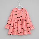 tanie Zestawy ubrań dla dziewczynek-Brzdąc Dla dziewczynek Codzienny Nadruk Falbana Długi rękaw Jedwab wiskozowy T-shirt Rumiany róż 100 / Śłodkie