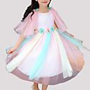 tanie Sukienki dla dziewczynek-Dzieci Dla dziewczynek Impreza Patchwork Koronka / Siateczka Bez rękawów Sukienka / Śłodkie