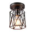preiswerte Einbauleuchten-Vintage Mini 1-Licht schwarz Metallkäfig Loft Deckenlampe Einbau Esszimmer Küche Beleuchtung Leuchte