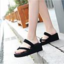 זול מוקסינים לנשים-בגדי ריקוד נשים נעליים EVA קיץ נוחות כפכפים & כפכפים עקב טריז שחור