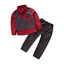 tanie Zestawy ubrań dla dziewczynek-Brzdąc Dla chłopców Vintage / Moda miejska Impreza / Wyjściowe Patchwork Długi rękaw Regularny Bawełna / Poliester Komplet odzieży Niebieski 110