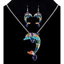 tanie Zestawy biżuterii-Damskie Biżuteria Ustaw - Delfin Etniczne, Kolorowy Zawierać Tęczowy Na Kij Bar