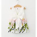 זול שמלות לבנות-שמלה ללא שרוולים רקום פרחוני חגים בנות פעוטות / כותנה / אלגנטי ויוקרתי