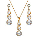 cheap Women's Sandals-Women's Jewelry Set - Crystal Drop, Gourd, Infinity Fashion, Elegant Include Drop Earrings Pendant Necklace Gold For Wedding Evening Party