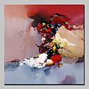 tanie Obrazy olejne-Hang-Malowane obraz olejny Ręcznie malowane - Abstrakcja / Pop art Nowoczesny Brezentowy / Rozciągnięte płótno