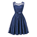 cheap Rings-Women's Going out Holiday Sophisticated Slim Sheath Dress - Solid Colored Lace Bow