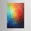 olcso Olajfestmények-Hang festett olajfestmény Kézzel festett - Absztrakt Modern Tartalmazza belső keret / Nyújtott vászon