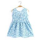abordables Vêtements de Fitness, de Course et de Yoga-Bébé Fille Imprimé Sans Manches Coton Robe Rose Claire / Mignon