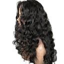 povoljno Perike s ljudskom kosom-Virgin kosa Lace Front Perika Stepenasta frizura stil Brazilska kosa Valovita kosa Crna Perika 130% Gustoća kose s dječjom kosom Prirodna linija za kosu Za crnkinje Žene Dug Perike s ljudskom kosom