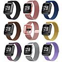 tanie Inteligentny zegarek Akcesoria-Watch Band na Fitbit Versa Fitbit Metalowa bransoletka Stal nierdzewna Opaska na nadgarstek