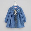 זול סטים של ביגוד לבנות-בנות יומי דפוס חולצה, חוטי זהורית אביב סתיו שרוול ארוך חמוד פול כחול בהיר