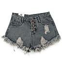 abordables Disfraces de Anime-Mujer Básico Shorts Pantalones - Un Color