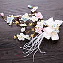 cheap Party Headpieces-Imitation Pearl / Fabric / Copper wire Hair Clip / Hair Accessory with Faux Pearl / Feathers / Fur / Flower 1 Piece Wedding Headpiece