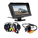 cheap Car Organizers-ZIQIAO 3 in 1 Wireless Transmitter Receiver Kit Car Waterproof Backup Rear View Cameras With 4.3 HD Color Monitor Auto Parking