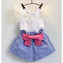 cheap Girls' Clothing Sets-Toddler Girls' Basic Striped Short Sleeve Clothing Set