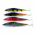cheap Fishing Lures & Flies-4 pcs Minnow / Fishing Lures Hard Bait / Popper ABS Outdoor / Sports & Outdoors Sea Fishing / Fly Fishing / Bait Casting / Spinning / Jigging Fishing / Freshwater Fishing / Carp Fishing