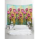 cheap Wall Murals-Garden Theme Landscape Wall Decor 100% Polyester Contemporary Modern Wall Art, Wall Tapestries Decoration