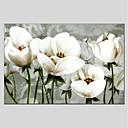 tanie Wydruki-Hang-Malowane obraz olejny Ręcznie malowane - Kwiatowy / Roślinny Nowoczesny Płótno / Rozciągnięte płótno