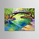 tanie Pejzaże-Hang-Malowane obraz olejny Ręcznie malowane - Streszczenie / Krajobraz Nowoczesny Brezentowy / Walcowane płótno