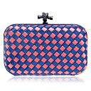 cheap Clutches & Evening Bags-Women's Bags Polyester Evening Bag Buttons Rainbow / Sky Blue / Royal Blue