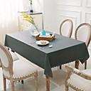 お買い得  テーブルクロス-コンテンポラリー PVC 方形  テーブルクロス ソリッド テーブルデコレーション 1 pcs