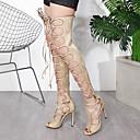 halpa Naisten saappaat-Naisten Bootsit Stilettikorko Tekonahka Comfort / Uutuus / Muotisaappaat Kevät / Kesä Musta / Manteli