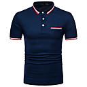 billige Tilbehør til herrer-Skjortekrage Polo Herre - Stripet Gatemote Arbeid / Kortermet